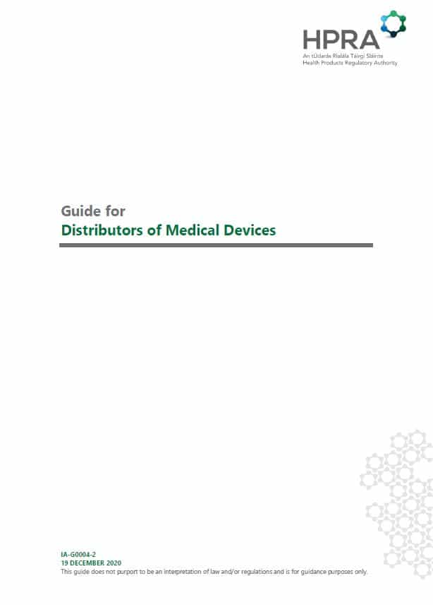 HPRA Guide for Distributors of Medical Devices
