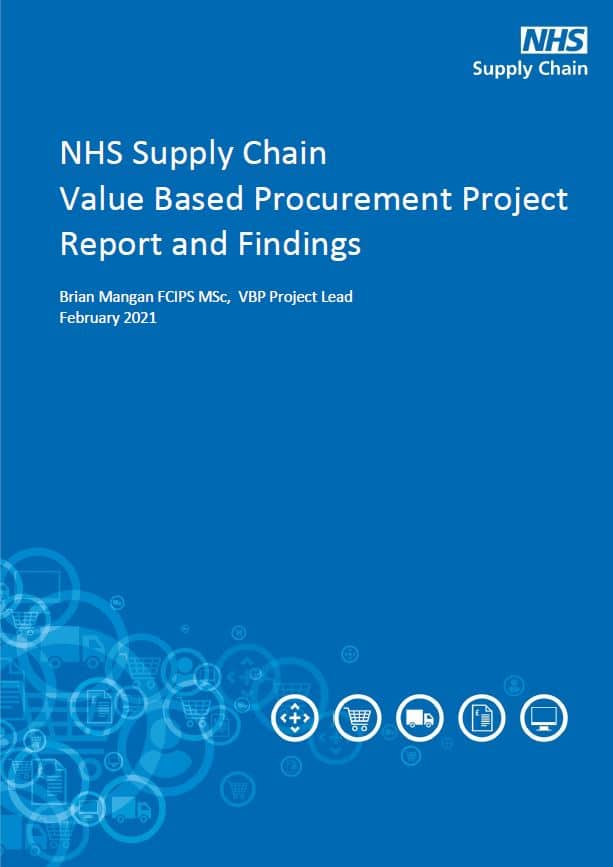 NHS Supply Chain Value Based Procurement Project Report and Findings