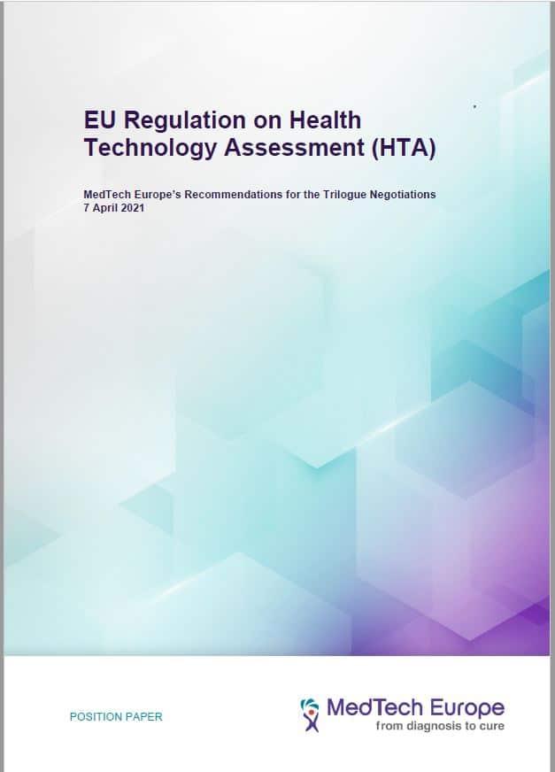 MedTech Europe Position Paper ahead of Trilogue Negotiations on EU HTA Regulation 7 April