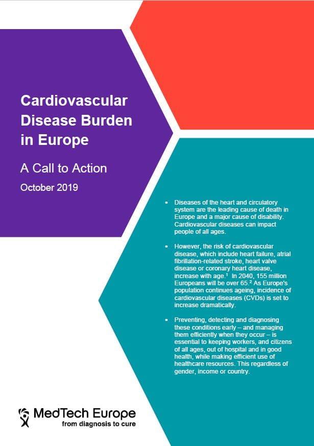 MedTech Europe – Cardiovascular Disease Burden in Europe; A Call to Action